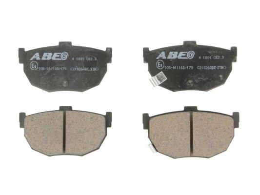 Plaquettes de frein arriere ABE C21026ABE (X1)