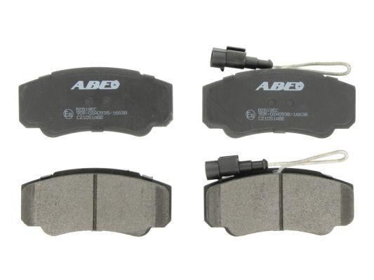 Kit de plaquettes de frein, frein à disque ABE C21051ABE (X1)