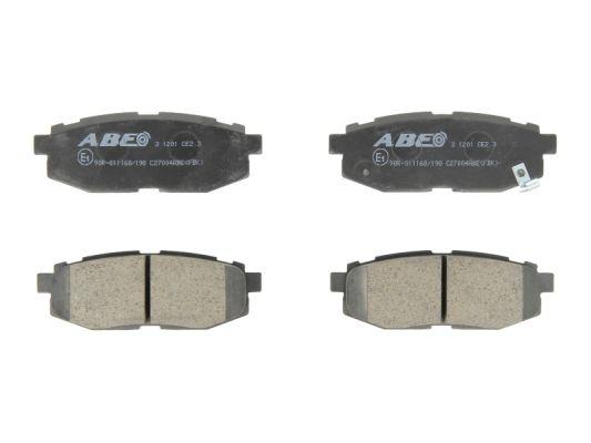 Plaquettes de frein arriere ABE C27004ABE (X1)