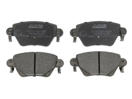 Plaquettes de frein arriere ABE C2G008ABE (X1)