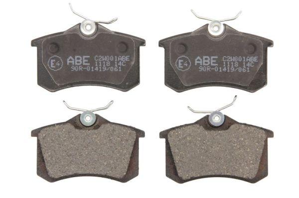 Plaquettes de frein arriere ABE C2W001ABE (X1)