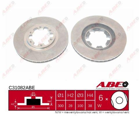 Disque de frein avant ABE C31082ABE (X1)