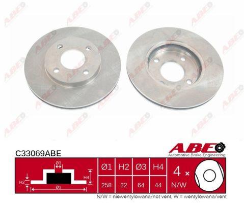 Disque de frein ABE C33069ABE (X1)