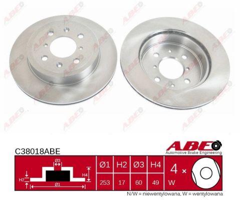 Disque de frein avant ABE C38018ABE (X1)