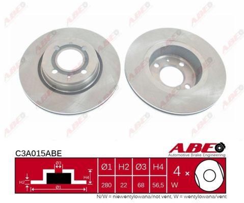 Disque de frein avant ABE C3A015ABE (X1)