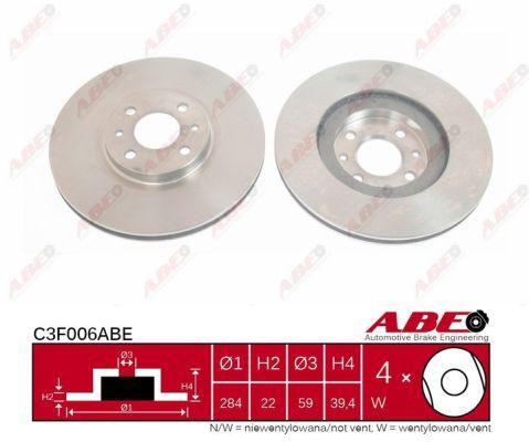 Disque de frein ABE C3F006ABE (X1)