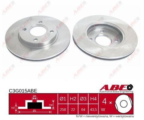 Disque de frein ABE C3G015ABE (X1)