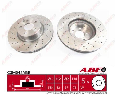 Disque de frein avant ABE C3M042ABE (X1)