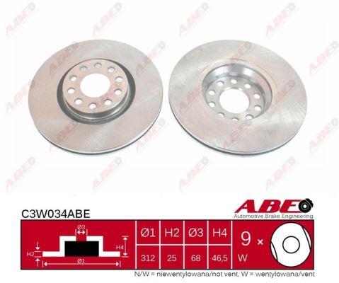 Disque de frein avant ABE C3W034ABE (X1)