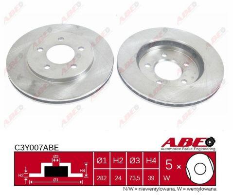 Disque de frein avant ABE C3Y007ABE (X1)