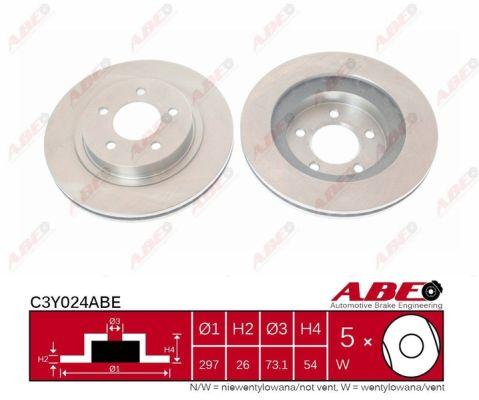 Disque de frein avant ABE C3Y024ABE (X1)