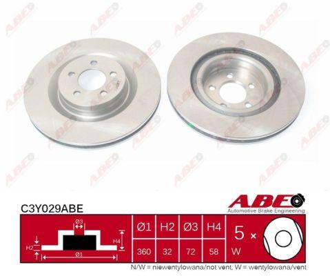 Disque de frein avant ABE C3Y029ABE (X1)