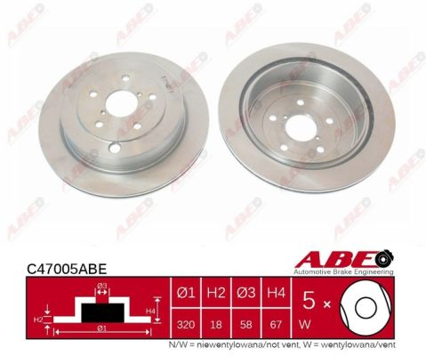 Disque de frein arriere ABE C47005ABE (X1)