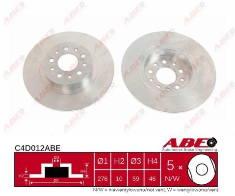 Disque de frein arriere ABE C4D012ABE (X1)