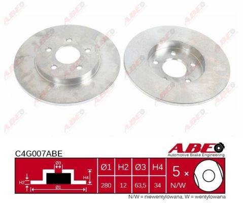 Disque de frein ABE C4G007ABE (X1)