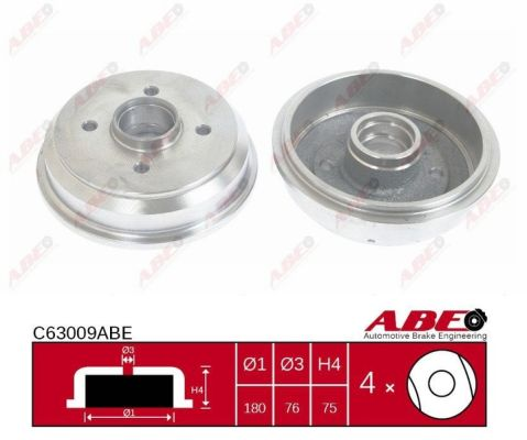 Tambour de frein arriere ABE C63009ABE (X1)