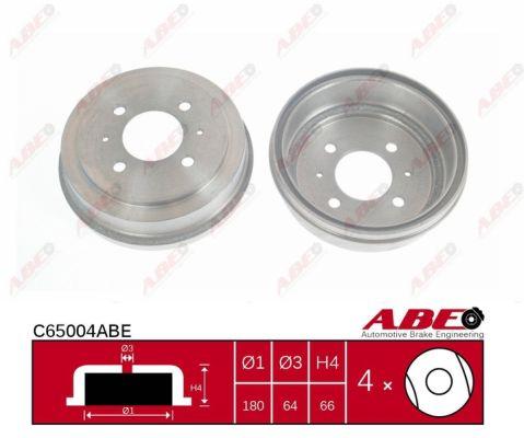 Tambour de frein arriere ABE C65004ABE (X1)
