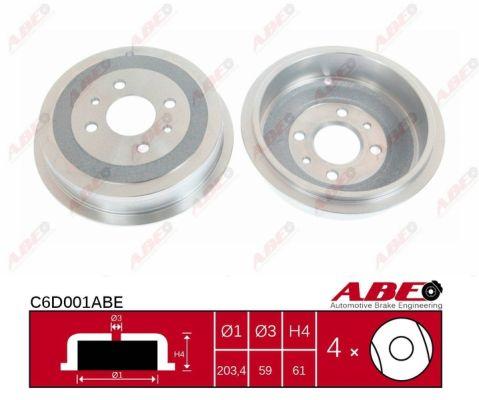 Tambour de frein arriere ABE C6D001ABE (X1)