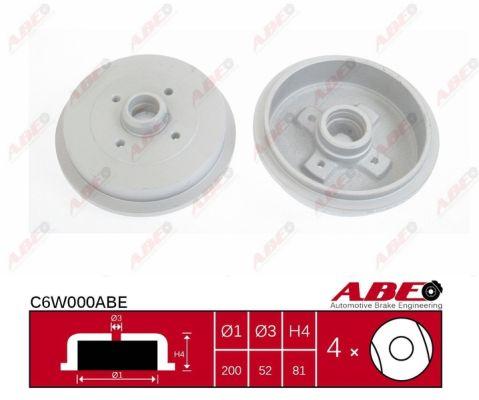 Tambour de frein arriere ABE C6W000ABE (X1)
