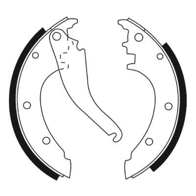 Jeu de mâchoires de frein de frein à main ABE CRE002ABE (X1)