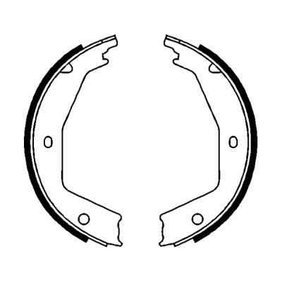 Jeu de mâchoires de frein de frein à main ABE CRG001ABE (X1)