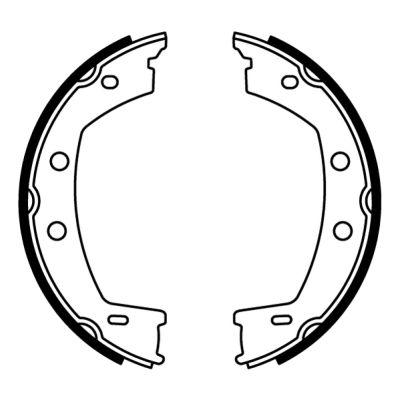 Jeu de mâchoires de frein de frein à main ABE CRI001ABE (X1)