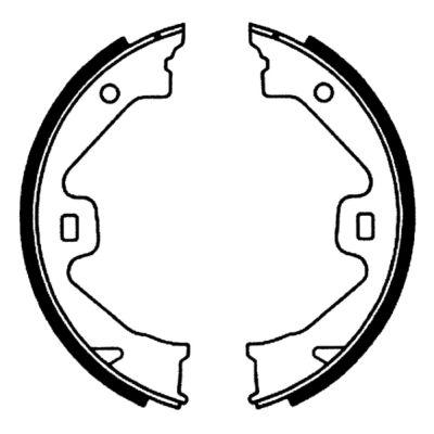 Jeu de mâchoires de frein de frein à main ABE CRK000ABE (X1)