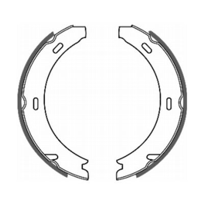 Jeu de mâchoires de frein de frein à main ABE CRM001ABE (X1)