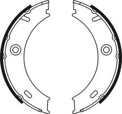 Jeu de mâchoires de frein de frein à main ABE CRM003ABE (X1)