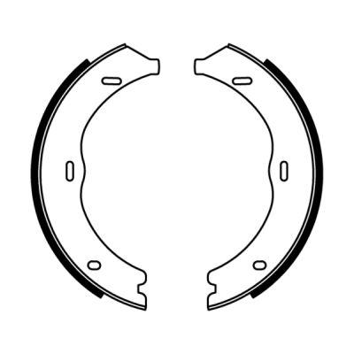 Jeu de mâchoires de frein de frein à main ABE CRM008ABE (X1)