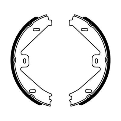 Jeu de mâchoires de frein de frein à main ABE CRM014ABE (X1)