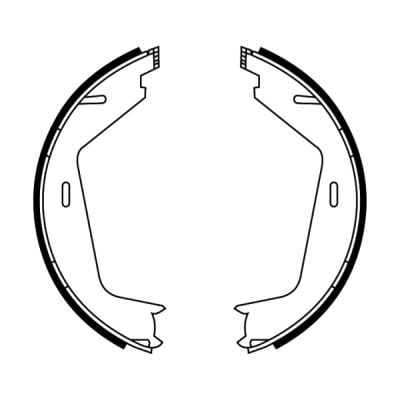 Jeu de mâchoires de frein de frein à main ABE CRV005ABE (X1)