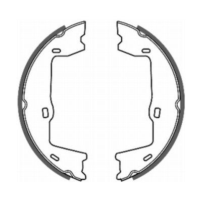 Jeu de mâchoires de frein de frein à main ABE CRX000ABE (X1)