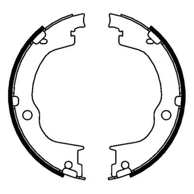 Jeu de mâchoires de frein de frein à main ABE CRX002ABE (X1)