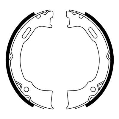 Jeu de mâchoires de frein de frein à main ABE CRY008ABE (X1)