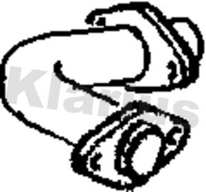 Tube d'echappement KLARIUS 301993 (X1)