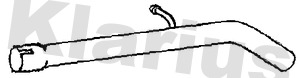 Tube d'echappement KLARIUS 110652 (X1)