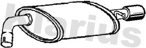 Silencieux arriere KLARIUS 210842 (X1)