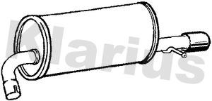 Silencieux arriere KLARIUS 210868 (X1)