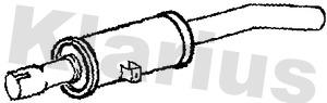 Silencieux arriere KLARIUS 220941 (X1)