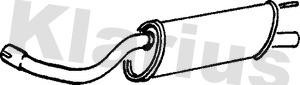 Silencieux arriere KLARIUS 231504 (X1)