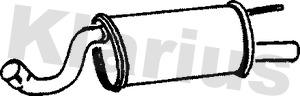 Silencieux arriere KLARIUS 231505 (X1)
