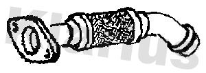 Tuyau flexible, échappement KLARIUS 110742 (X1)