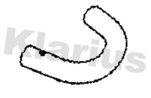 Tube d'echappement KLARIUS 110472 (X1)