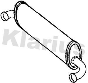 Silencieux central KLARIUS 231059 (X1)