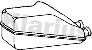 Silencieux arriere KLARIUS 210955 (X1)