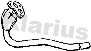 Tube d'echappement KLARIUS 120129 (X1)