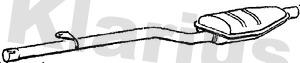 Silencieux central KLARIUS 230226 (X1)