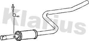Silencieux central KLARIUS 240994 (X1)