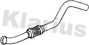 Tube d'echappement KLARIUS 120461 (X1)